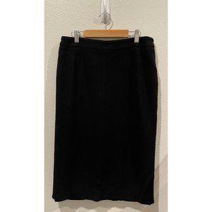 RENE LEZARD Black Pencil Midi Skirt